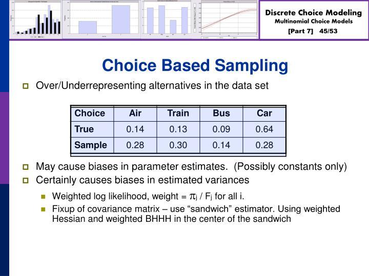 Choice Based Sampling