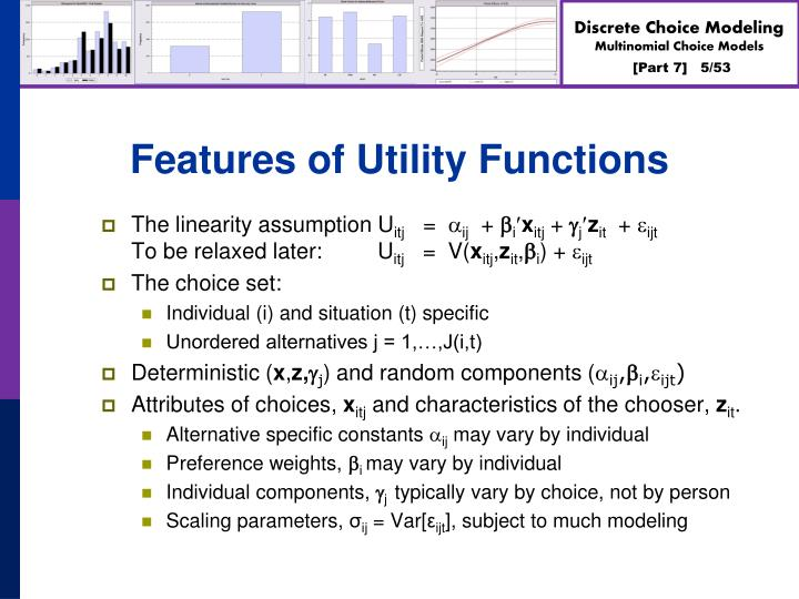 Features of Utility Functions