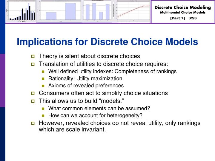 Implications for Discrete Choice Models