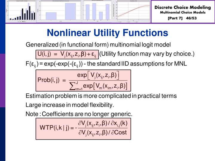 Nonlinear Utility Functions