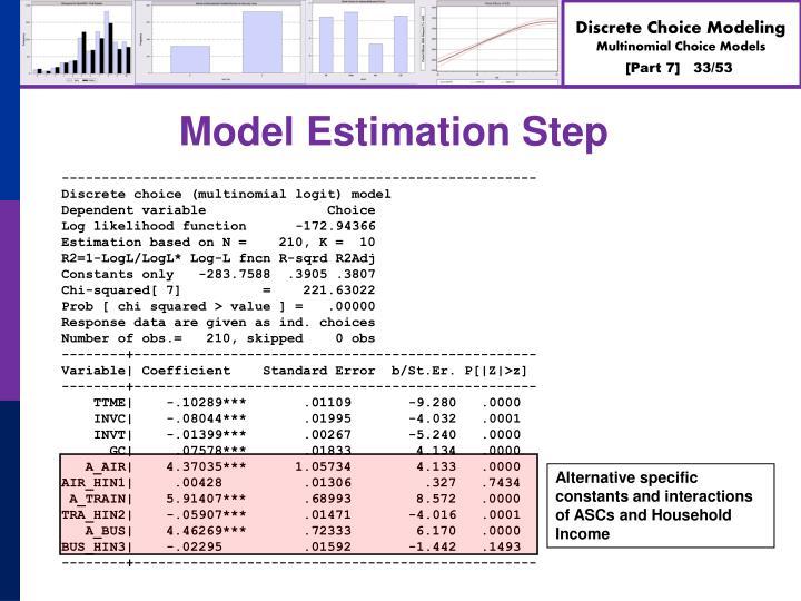 Model Estimation Step