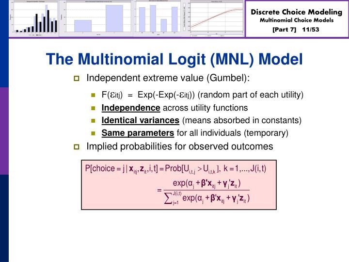 The Multinomial Logit (MNL) Model