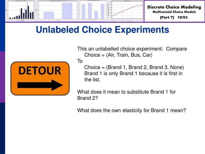 Unlabeled Choice Experiments
