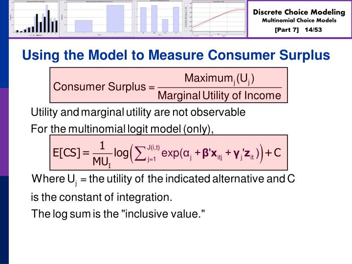 Using the Model to Measure Consumer Surplus