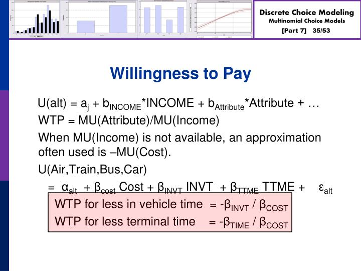 Willingness to Pay