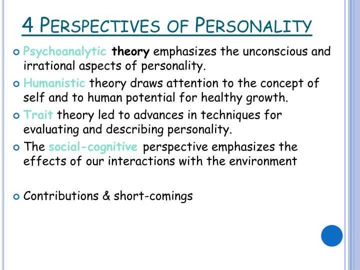 4 Perspectives of Personality