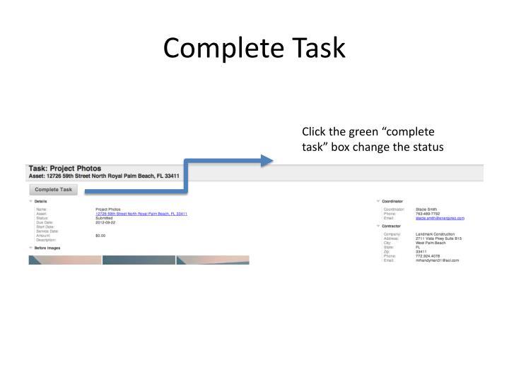 Complete Task