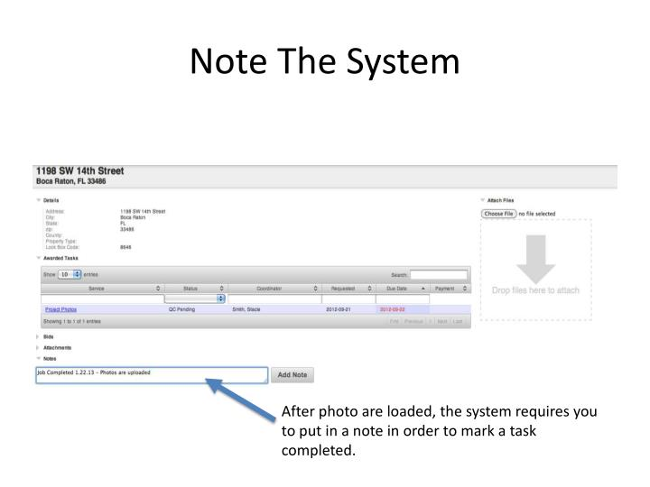 Note The System
