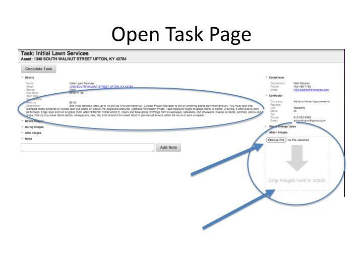 Open Task