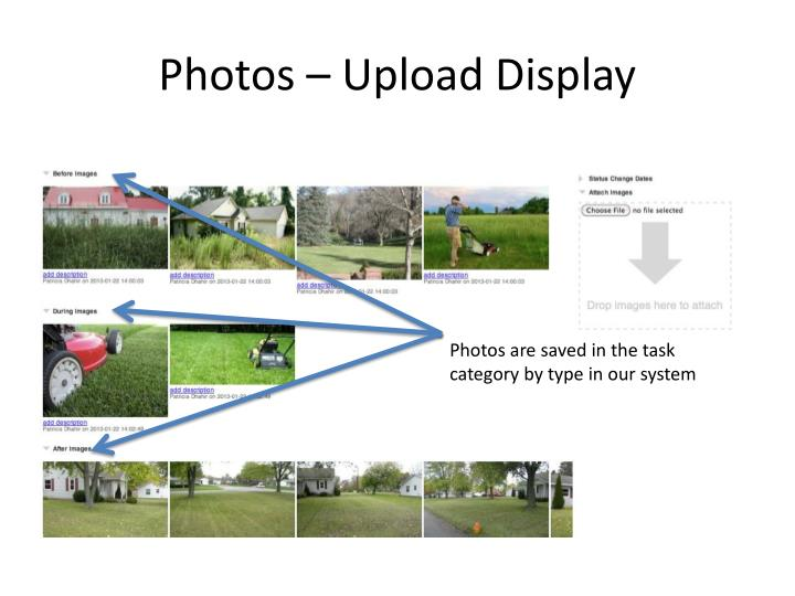 Photos – Upload Display