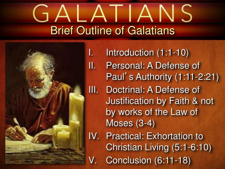 Brief Outline of Galatians