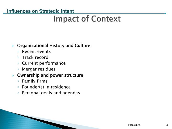 Impact of Context