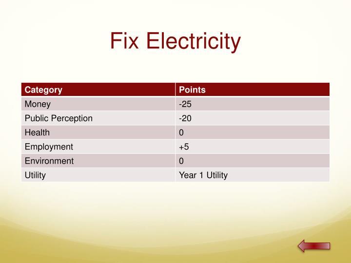 Fix Electricity