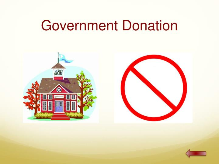 Government Donation