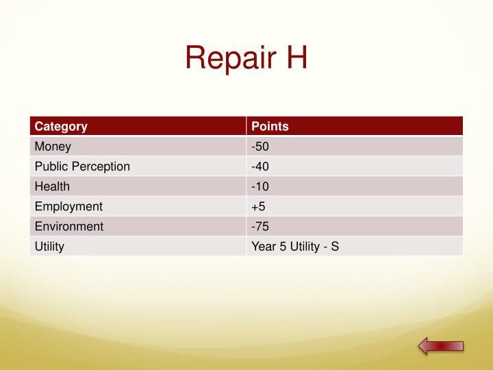 Repair H