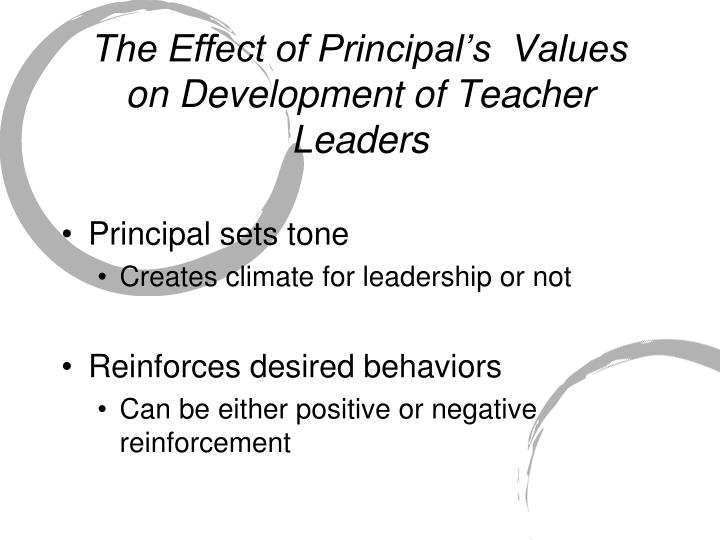 The Effect of Principal's  Values