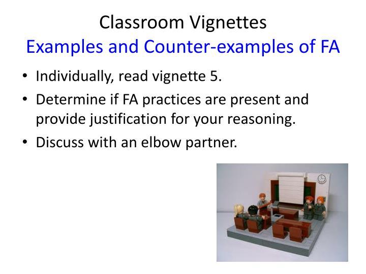 Classroom Vignettes