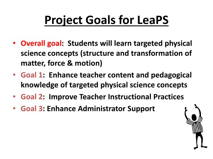 Project goals for leaps