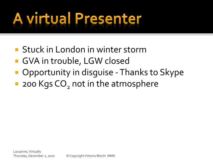 A virtual Presenter