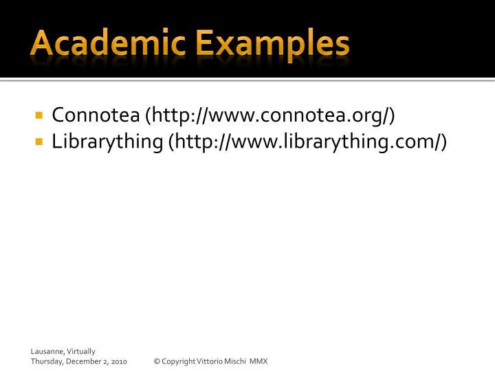 Academic Examples
