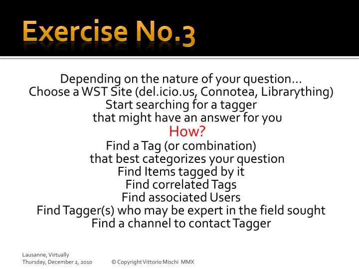 Exercise No.3