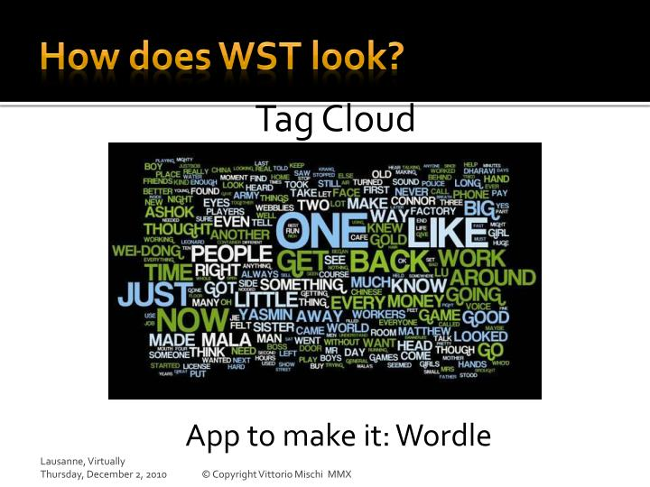 How does WST look?