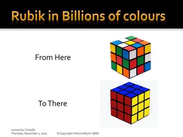 Rubik in Billions of colours