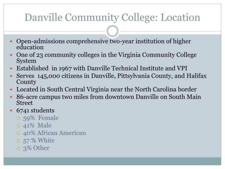 Danville Community College: Location