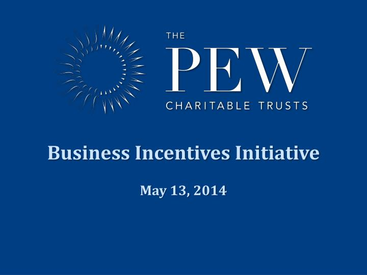 Business Incentives Initiative
