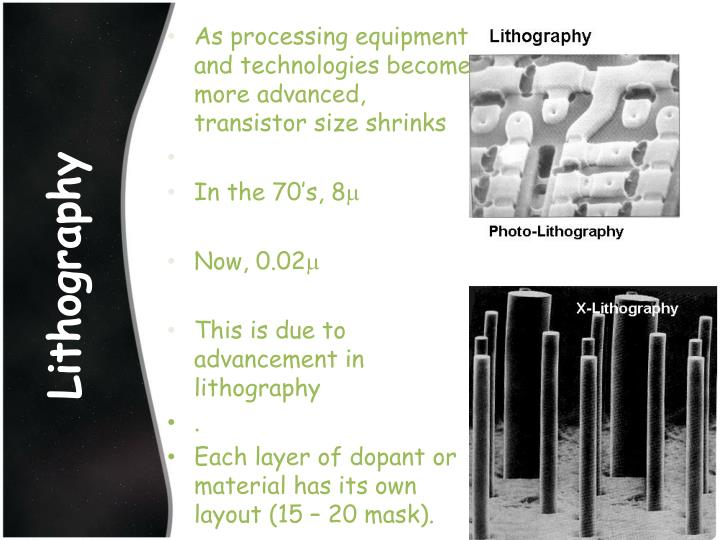 As processing equipment and technologies become more advanced, transistor size
