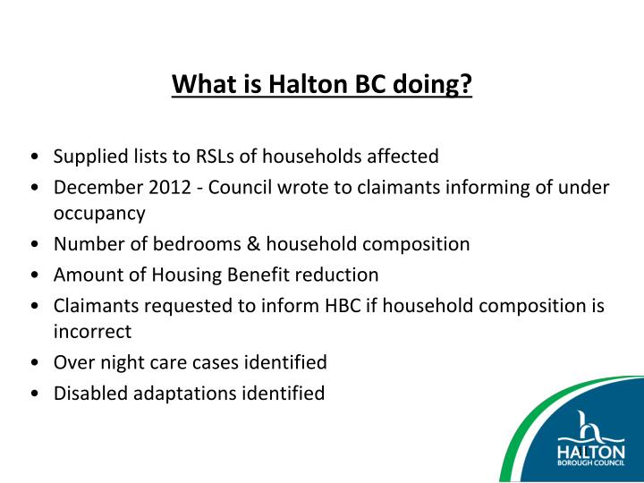 What is Halton BC doing?