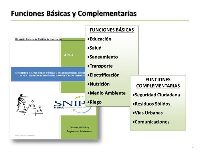 Funciones Básicas y Complementarias