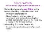 5 hu s six points a framework of peaceful development