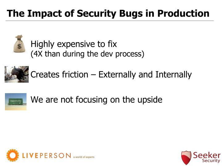 The Impact of Security Bugs in Production
