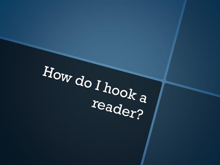 How do I hook a reader?