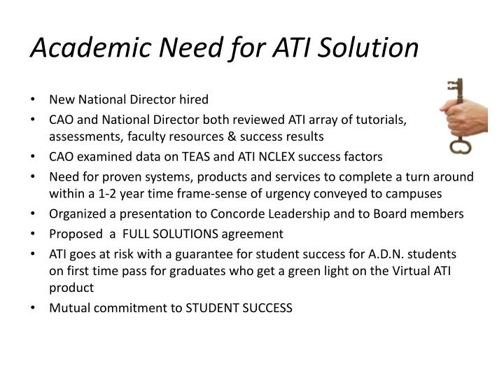 Academic Need for ATI Solution
