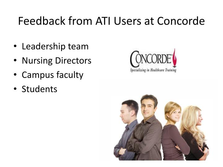 Feedback from ATI Users at Concorde