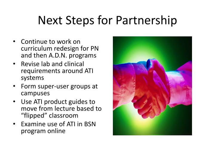 Next Steps for Partnership