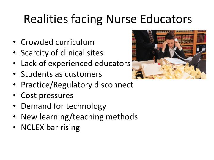 Realities facing nurse educators