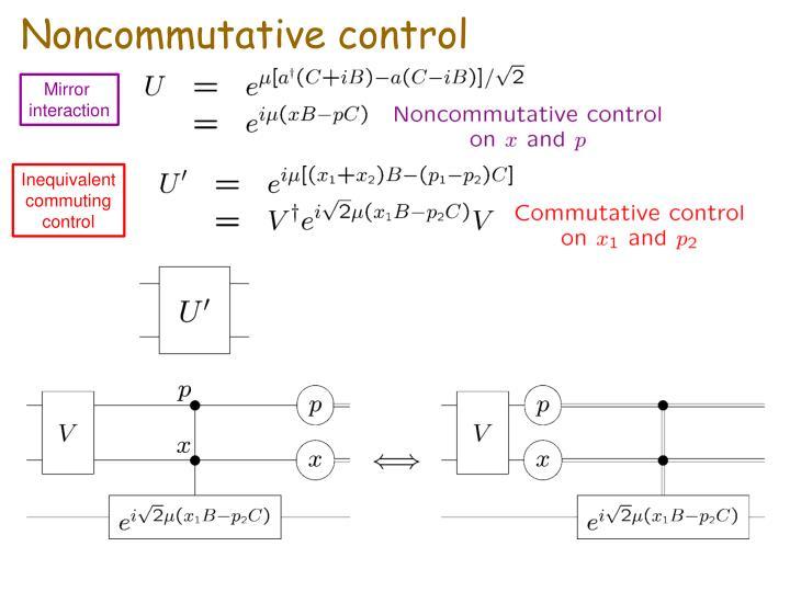 Noncommutative