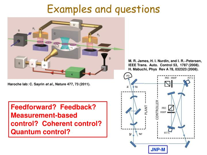 Examples and questions
