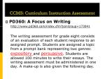 ccms curriculum instruction assessment