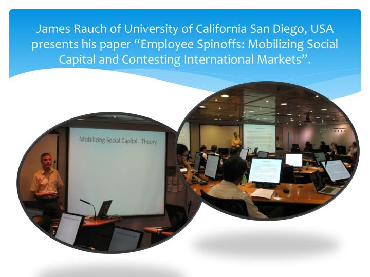 James Rauch of University of California San Diego,