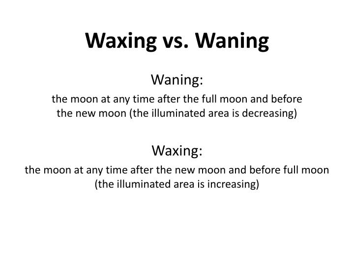 Waxing vs. Waning
