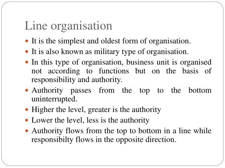 Line organisation