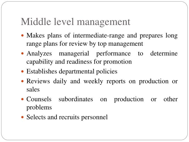 Middle level management
