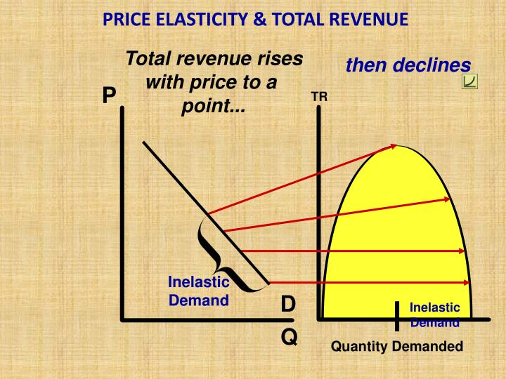 PRICE ELASTICITY & TOTAL REVENUE