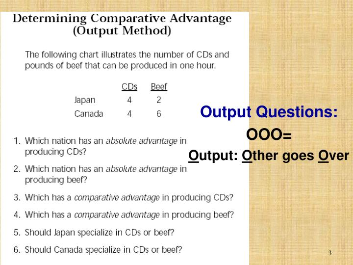 Output Questions: