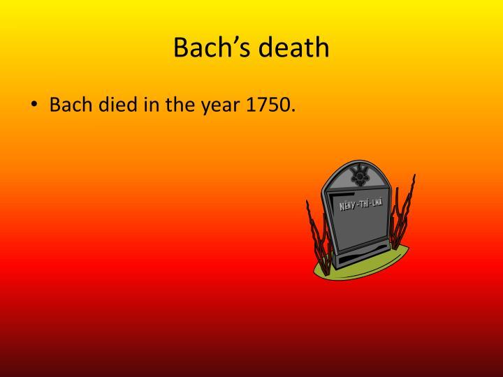 Bach's death
