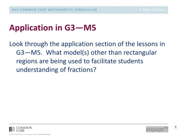 Application in G3—M5